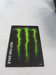 Lot Of 10 Genuine Monster Energy Decals Stickers Pack Approx 4x3 Inches