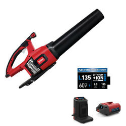 Electric Leaf Blower Cordless Brushless 60v 2.5 Ah Battery And Charger Included