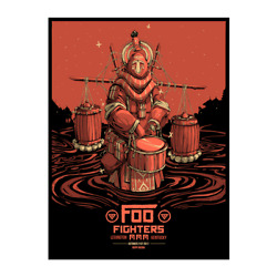 Foo Fighters Poster 10/21/2017 Lexington Ky Numbered /300