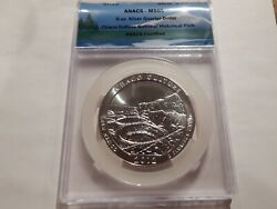 2012 5 Oz Silver Atb Chaco Culture National Historical Park Anacs Ms 69