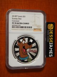 2018 P 1 Tuvalu Proof Silver Colorized Scooby Doo Ngc Ngc Pf70 Ultra Cameo