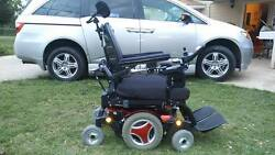 Permobil M-300 Power Wheelchair Red 34and039and039 Super Strong Heavy Duty Mint Condition