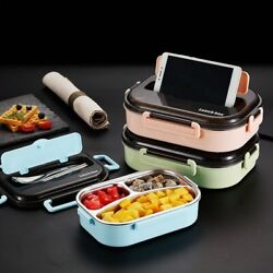 Heated Lunch Box For Kids Heated Bento Stainless Steel Lunch Box Thermos Contain