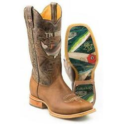 Men's Tin Haul Alpha Angler Boots With Fishing Lure Sole Handcrafted