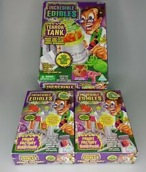 3x Incredible Edibles Terror Tank And 2 Fright Factory Refill Packs Vtg Expired