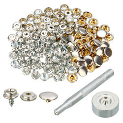 152x Stainless Steel Boat Cover Canvas Fixed Snap Screw Stud Fastener Repair Kit