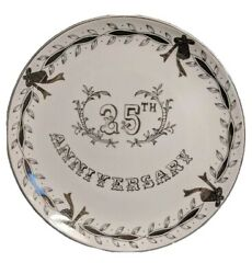 25th Anniversary Collectors Plate Lefton China Japan New 10 1/4 Inch-1a