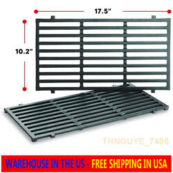 2pk Replacement Bbq Cast Iron Cooking Grid Grates For Weber Spirit 210 220 7637
