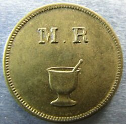 Colombia M.r./mitad Token Lovely Unc. Condition.