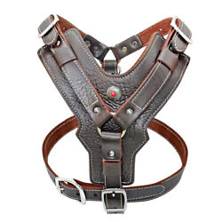 Best Genuine Leather No Pull Dog Harness Heavy Duty Vest For Large Dogs Xl-3xl