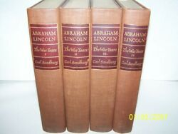Abraham Lincoln The War Years Carl Sandberg Signed Limited Edition Four Volumes