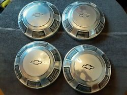 Vintage 1960's 1970's Chevy Impala Bel Air Biscayne Dog Dish Hubcaps 10 1/2