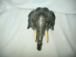 Antique Elephant Head Hotel Service Bell
