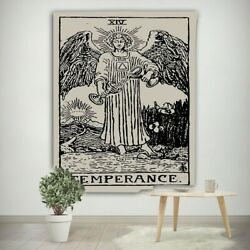 Tarot Card Fabric Wall Tapestry Temperance Wiccan Home Decor 27.5quot; x 39quot;