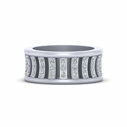 Unique Wedding Band Women 925 Sterling Silver Eternity Band Promise Ring For Her