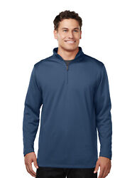 Tri-mountain Menand039s 100 Polyester 1/4 Zip Pullover W/tmp Puller K628 S-4xl