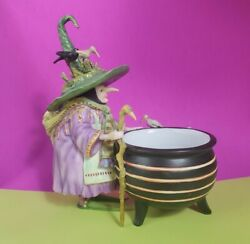 🎃 Department 56 Krinkles Patience Brewster Witch Cauldron Candy Dish Halloween