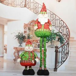 Ornaments Santa Claus Dolls Home Christmas Decorations Party Supply Creative Set