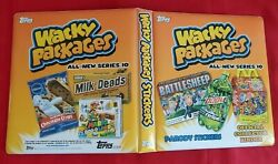 2013 Topps Wacky Packages Ans10 Official Orange Binder  @@ Rare @@