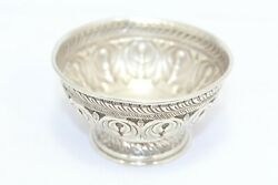 Handmade Dish Bowl Oxidized 925 Sterling Solid Silver India Hand Engraved H