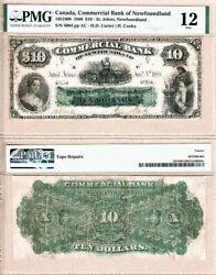 1888 10 Commercial Bank Of Newfoundland Pmg Fine 12