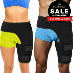 Hip Brace Compression Groin Support Wrap For Sciatica Pain Relief Thigh Unsex