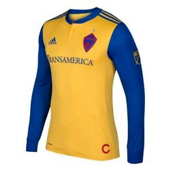Colorado Rapids Mls Adidas Menand039s Gold Authentic On-field Long Sleeve Jersey