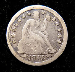 1853 Seated Liberty Dime Arrows At Date Vg+ Silver 19th C 10c Type Coin