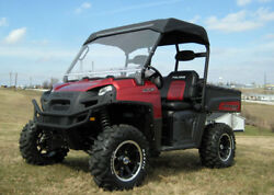 Hard Windshield And Roof For Polaris Ranger Xp - Soft Top Material
