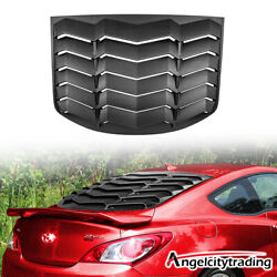 Rear Window Louver Sun Shade Cover Fit For Hyundai Genesis Coupe 2010-2016 Abs