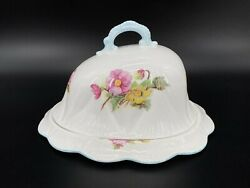 Shelley Begonia Muffin Cheese Dish With Lid Bone China England Rare