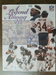 Walter Payton Autographed Signed 16x20 Poster Photo Chicago Bears Psa/dna