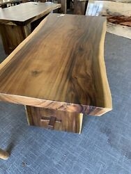Prefinished Live Edge Raw Suar Or Monkey 🐒 Pod Wood Table From Bali