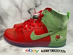 New Nike Dunk Sb High Strawberry Cough Red Green Sz 9.5 10.5 11.5 Cw7093-100