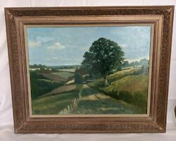 Very Collectible Antique California Landscape By Listed Leslie Hee