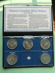 Historic Canadian Silver Dollars Set Of 5