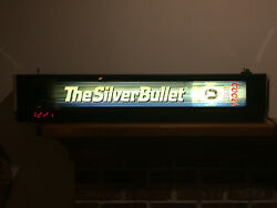 Coors Silver Bullet 40 Lighted Bar Sign Hanging Wall