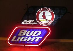 1996 St. Louis Cardinals Central Division Champions Bud Light Neon Sign 36x28