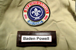 Set 6 Webelo Cub Boy Scout Pack Uniform Leather Id Button On Insert Name Badges