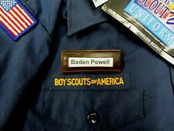 6 Tiger Cub Boy Scout Pack Uniform Leather Id Pin-on Insert Name Badges Fastship
