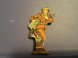 Vtg Marx Tin Lithograph Toy - Infantry First Lieutenant 2 - Soldiers Of Fortune