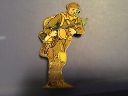 Vtg Marx Tin Lithograph Toy -  Parachute Trooper 50 - Soldiers Of Fortune
