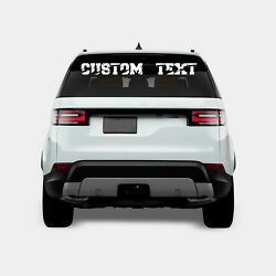 Custom Windshield Decals Word And Number Car Truck Window Custom Stickers