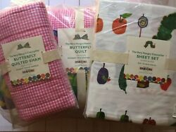 Pottery Barn Kids Eric Carle Very Hungry Caterpillar Bedding Quilt Sheets Sham 7