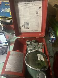 Vintage M-s-a All-service Gas Mask No. 14f-65 Origional Box Brand New Never Used