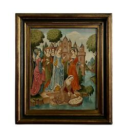 Medieval Painting, Queen Mary And Baby Jesus