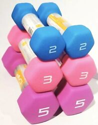 CAP Neoprene Coated Dumbbell Set 5lbs 3lbs And 2lbs Bundle 20lbs Total Weight $46.99