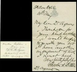 Very Fine, President Chester A. Arthur Handwritten And Signed Letter, No Date