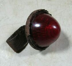 Vintage/antique Red Glass Beehive Light Rat Hot Street Rod Motorcycle For Parts