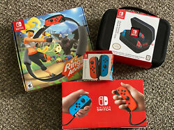 Nintendo Switch 32gb Console Ring Fit Adventure Game Bundle And Accessories